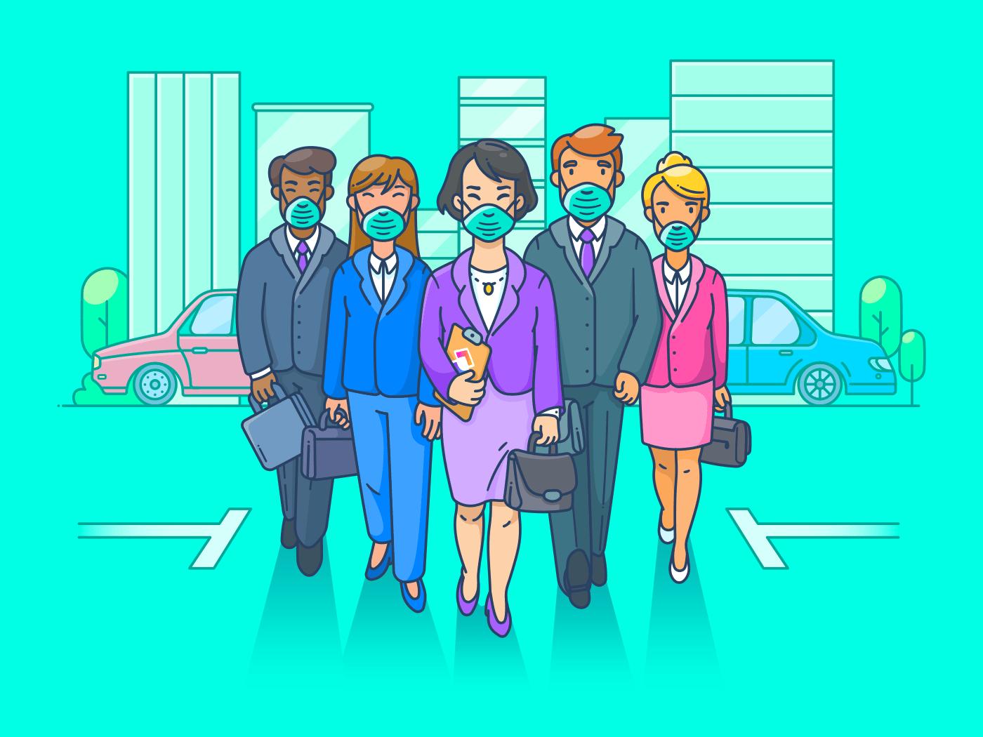 Team returning to work