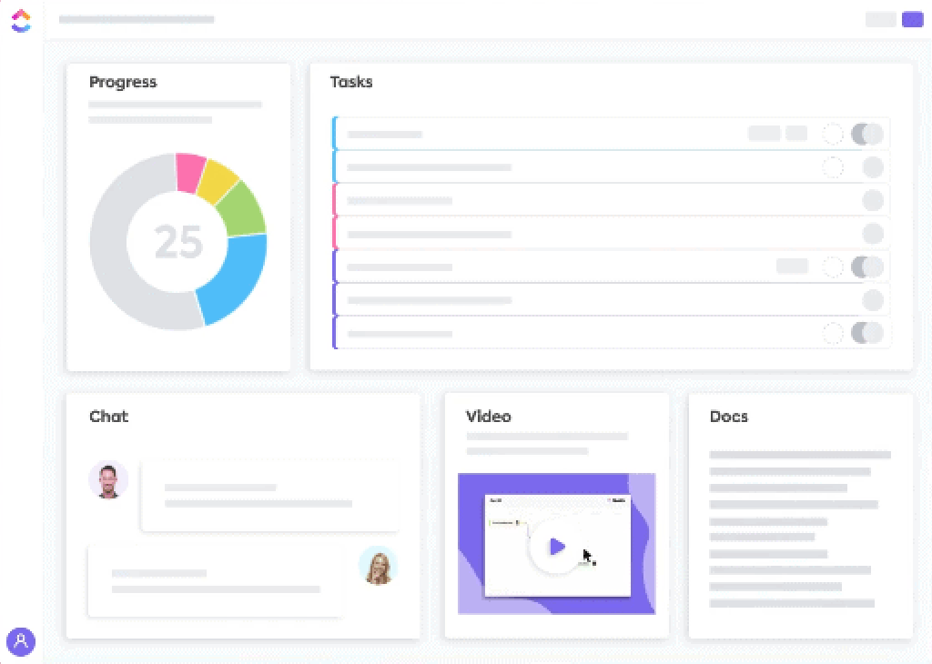 Customizable widgets in ClickUp's Dashboards
