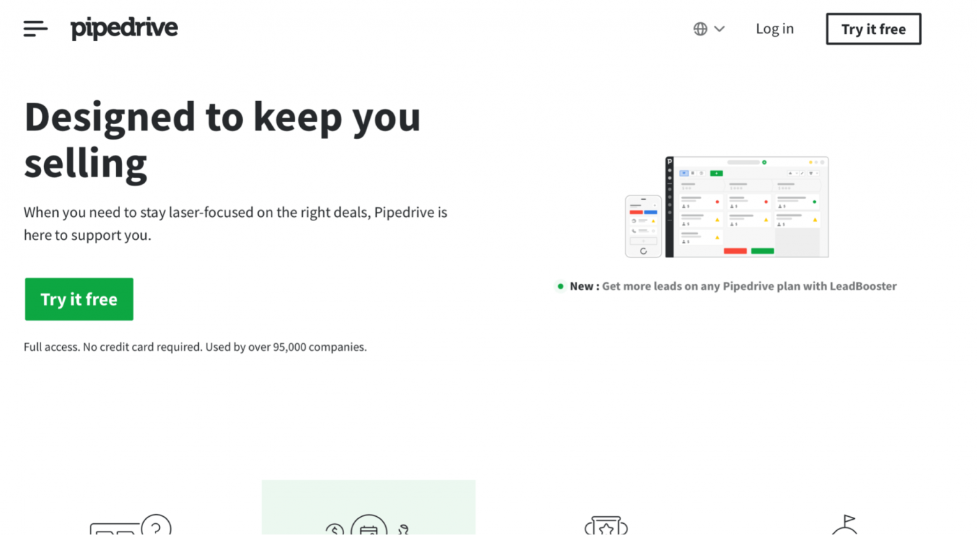 pipedrive homepage
