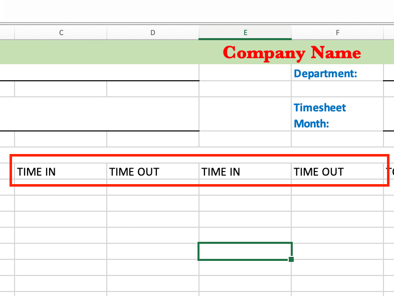 Adding labels in Excel