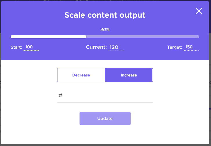 Visualizing progress percentages in Goals in ClickUp