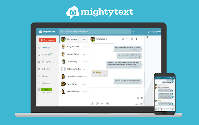 mightytext chrome extension