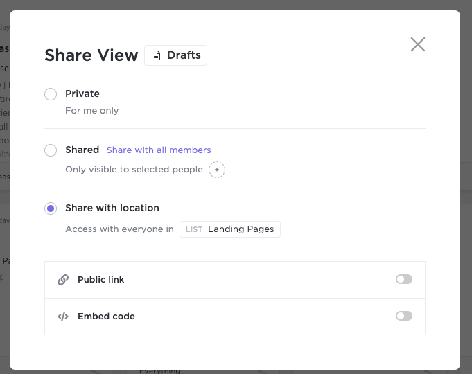 Share View in ClickUp