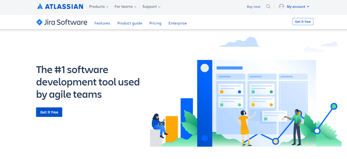 Atlassian Jira home page