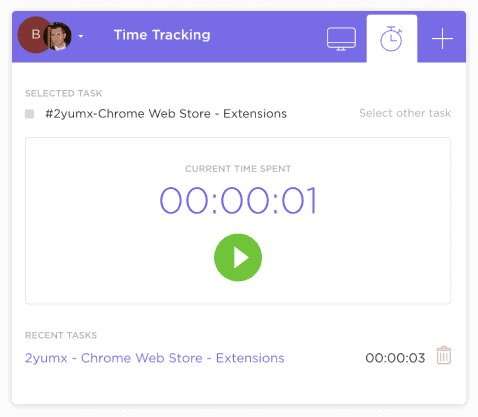 Project Time tracking in ClickUp