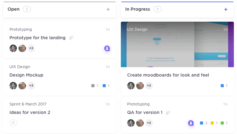 Manage Tasks in Board View