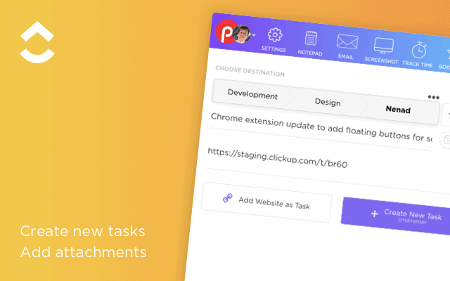 The ClickUp Chrome Extension for Tasks, Time Tracking & Screenshots