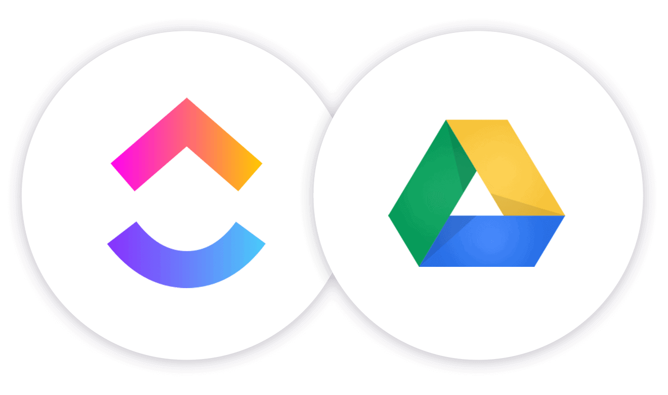 ClickUp Cloud Storage in Google Drive