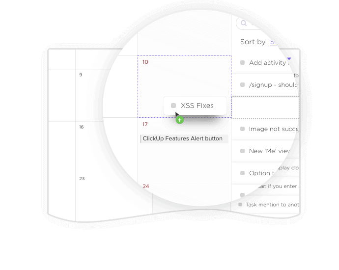 Two way sync your tasks and events with Google Calendar and ClickUp